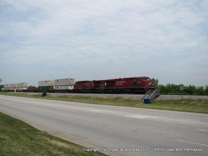 CP freight waiting for clearance into Bensenville Yard
