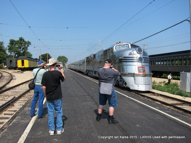 Club members photograph the Zephyr at IRM.